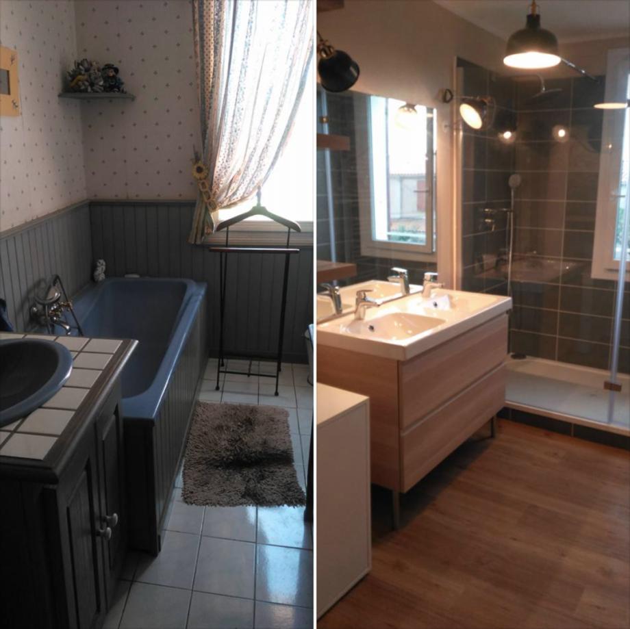 Architecte d\'intérieur salle de bain avec douche italienne rénovation