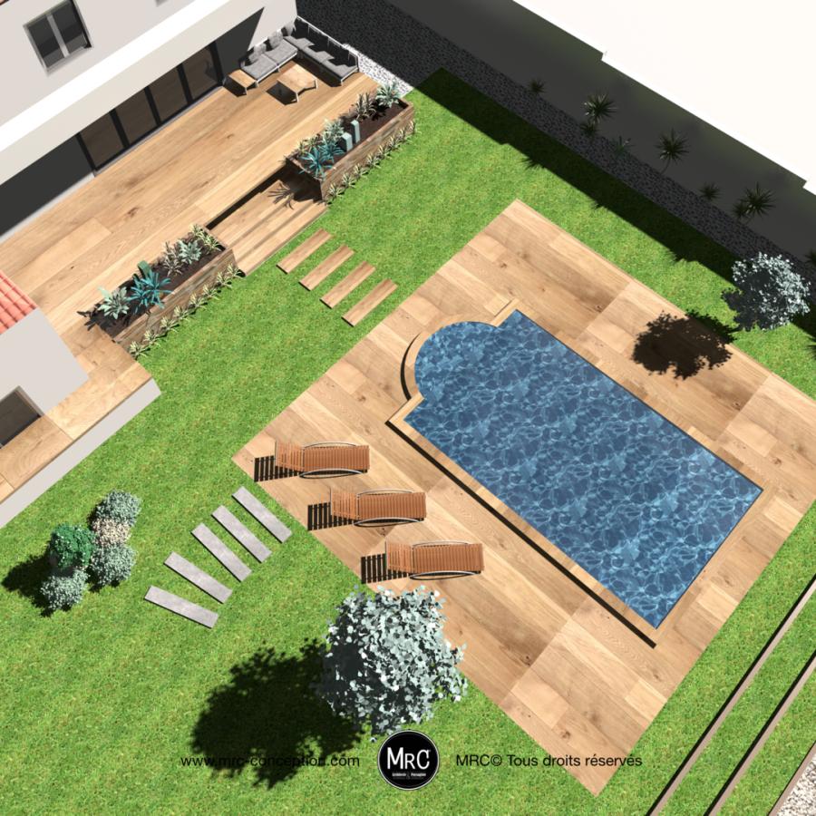 Amenagement Exterieur Terrasse Maison architecte paysagiste aménagement jardin avec piscine
